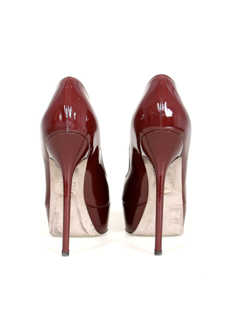 Sergio Rossi Patent Leather Platform Pumps