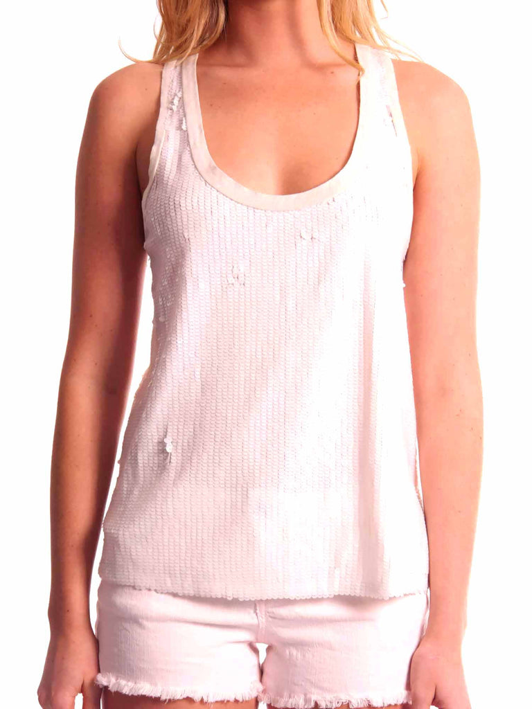 7 For All Mankind Sequin Tank