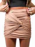 Lush Ruched Knot Skirt