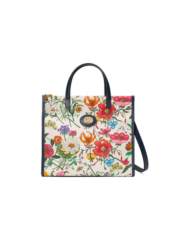 New Gucci Medium Flora Canvas Tote Bag