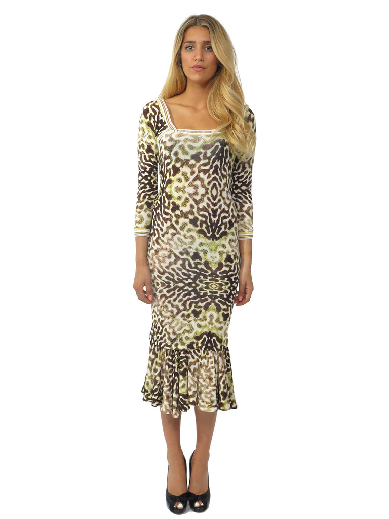 Just Cavalli Printed Jersey Dress