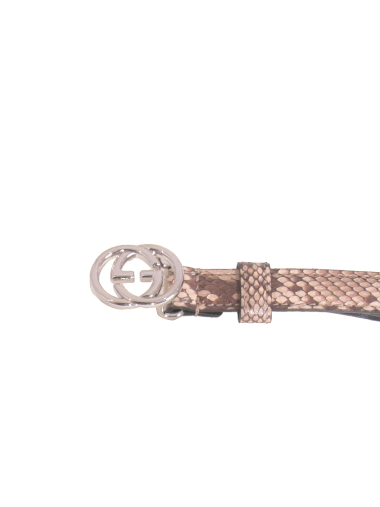 Gucci Thin Snakeskin Belt