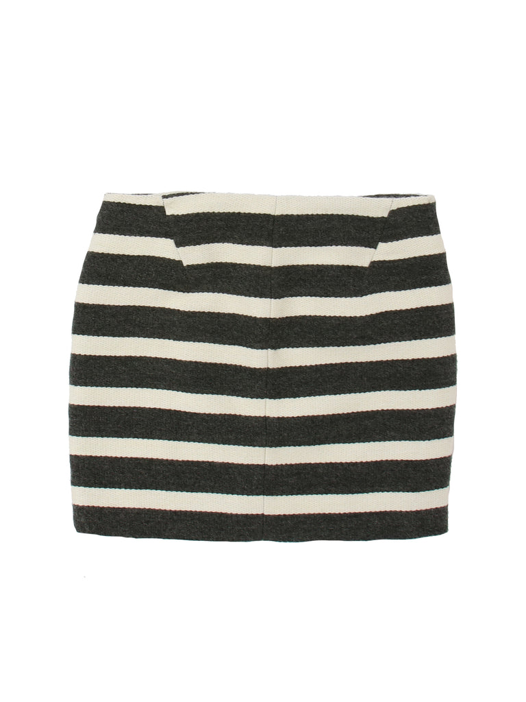 Maje Striped Mini Skirt