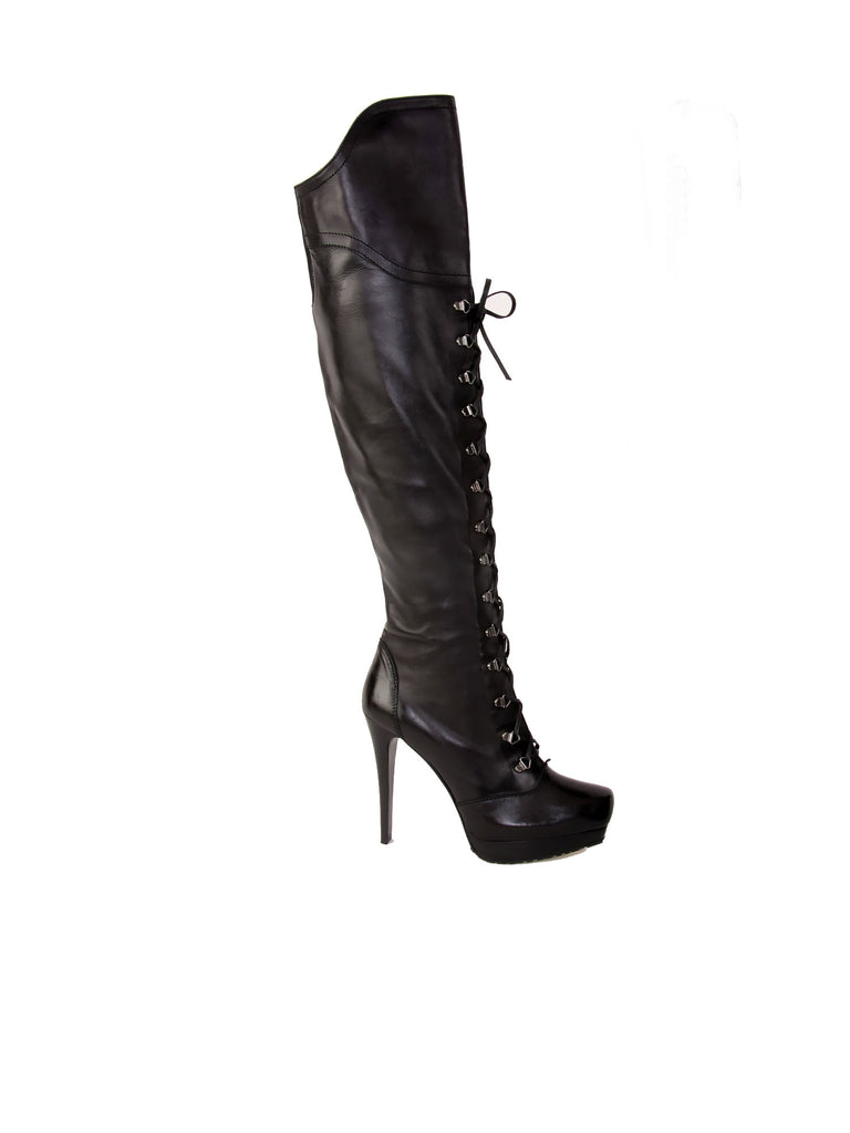 Stuart Weitzman Laced-Up Thigh-High Boots