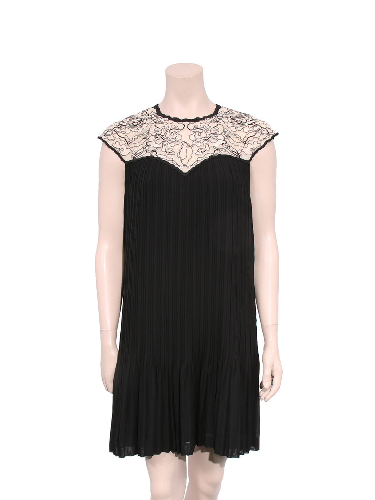 Ted Baker Pleated Lace Dress