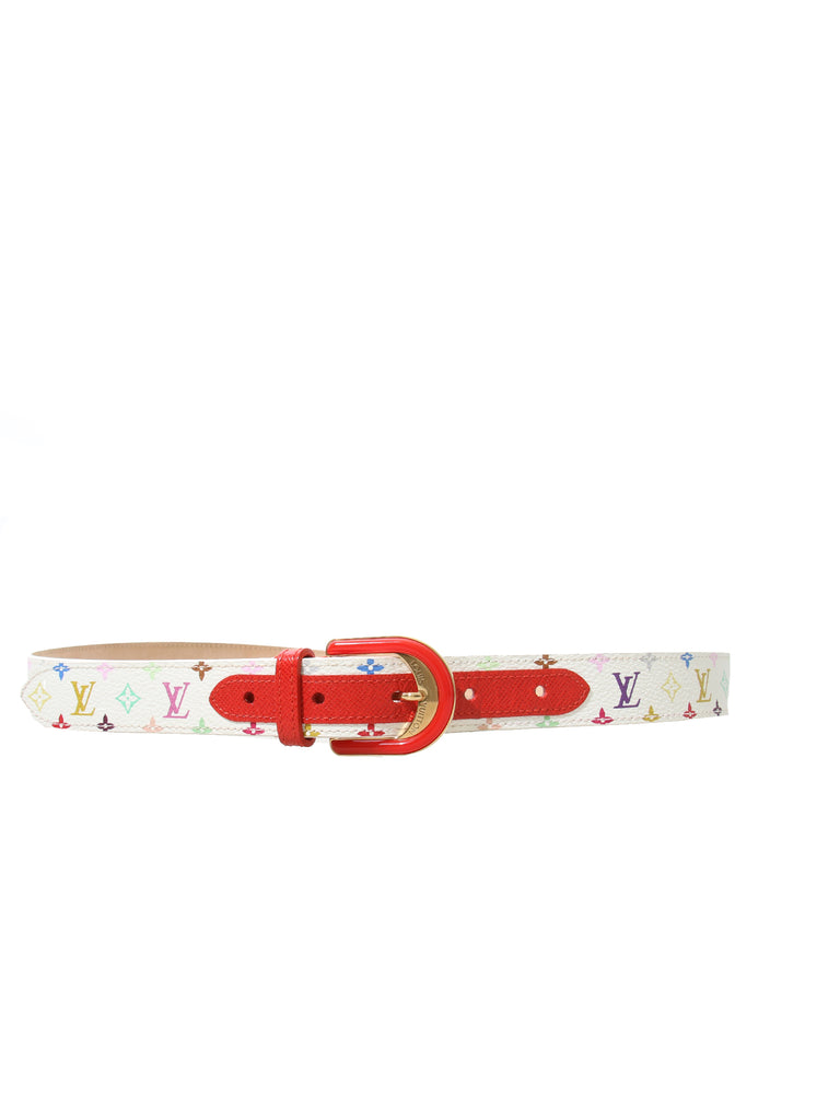 Louis Vuitton Takashi Multicolor Monogram Belt