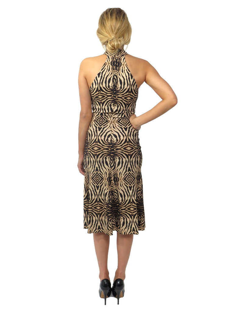 Roberto Cavalli Tiger Print Stretch-Jersey Dress