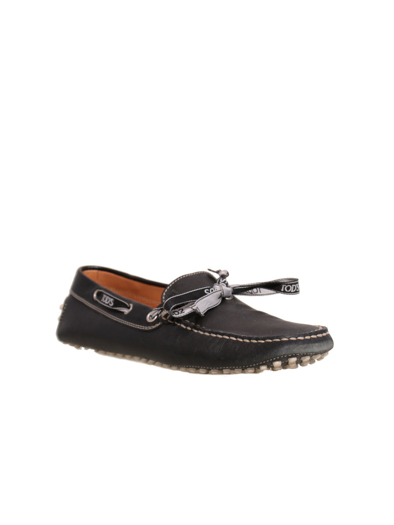 Tod's Leather Ribbon Loafers