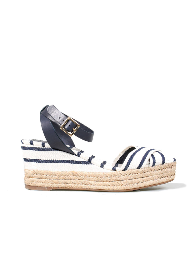 Tory Burch Striped Wedge Sandals