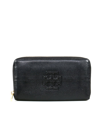 Tory Burch Leather Zip Around Wallet