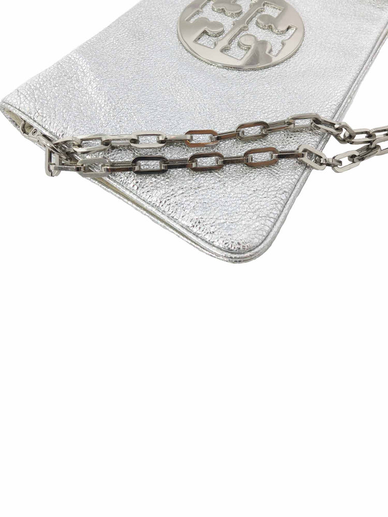 Tory Burch Metallic Logo Clutch