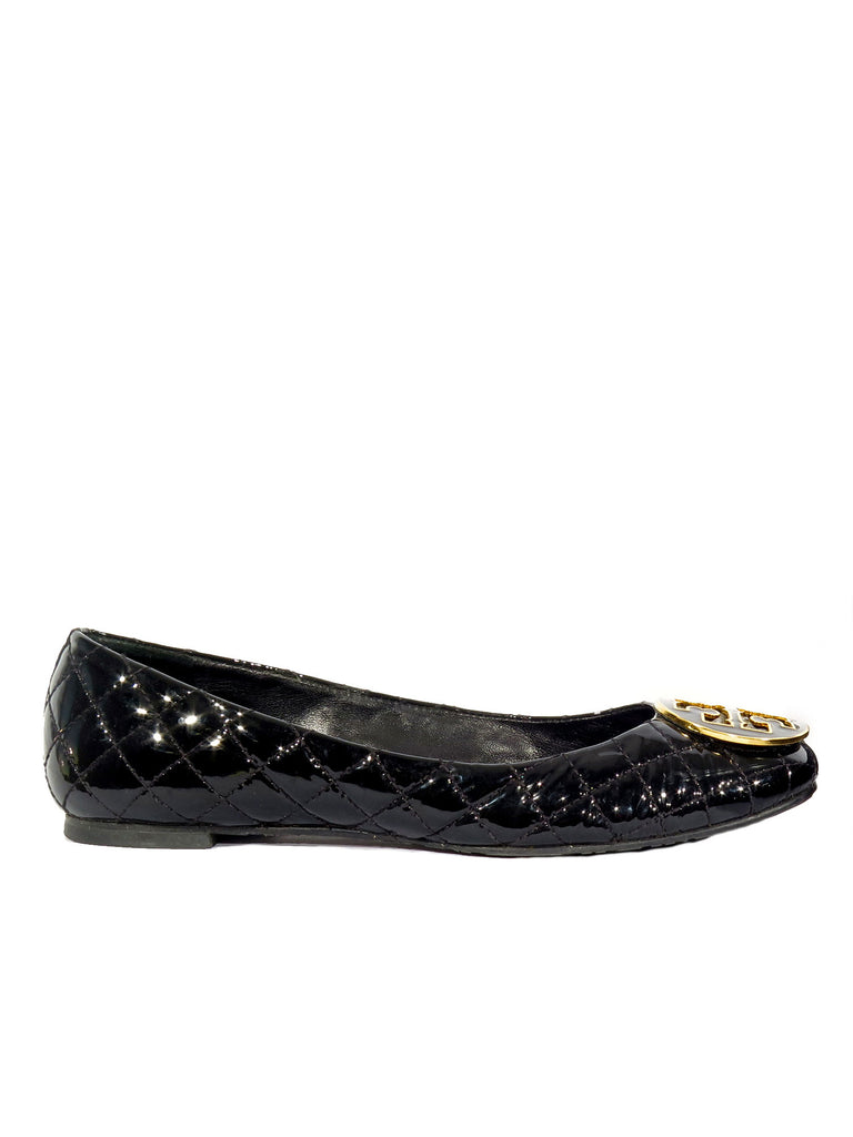 382632807d16 Pre-owned Tory Burch Quinn Quilted Ballet Flats