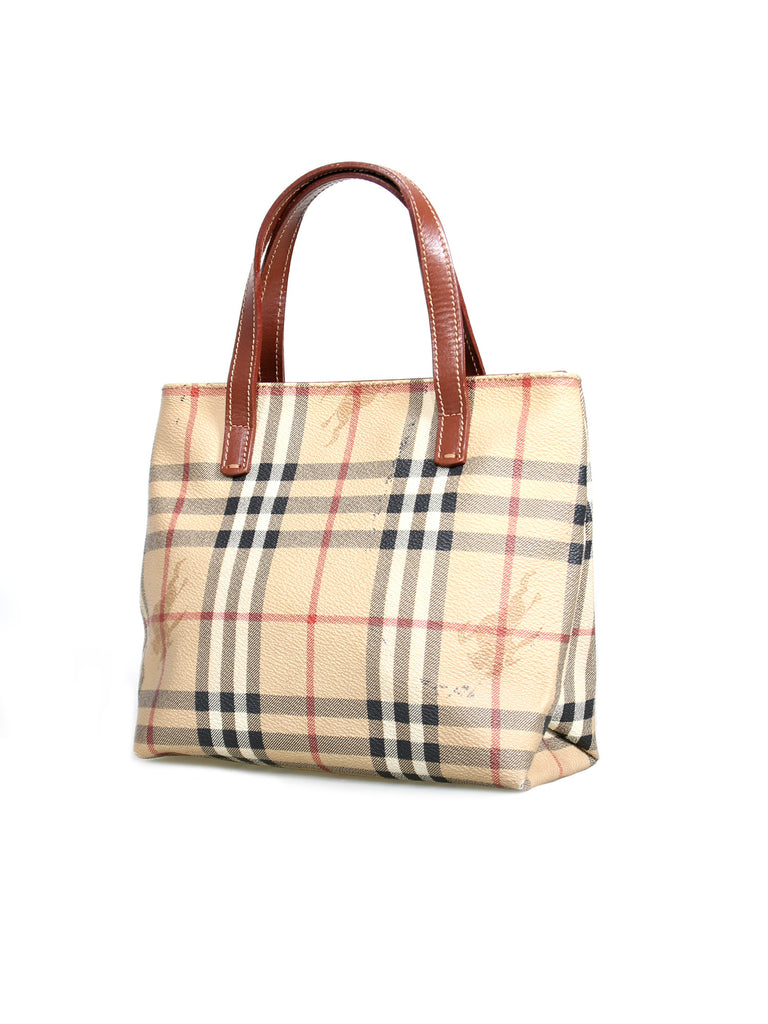 Burberry Haymarket Check Small Tote Bag
