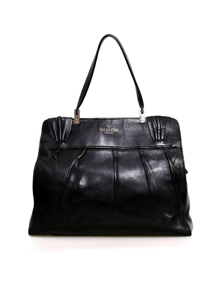 Valentino Aphrodite Leather Bow Bag
