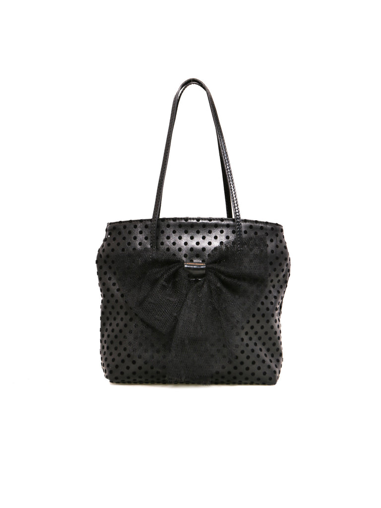 a084436af Pre-owned Valentino Polka Dot Bow Tote – Sabrina s Closet