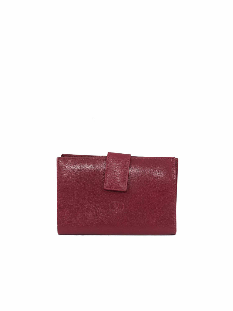 Valentino Leather Snap Wallet