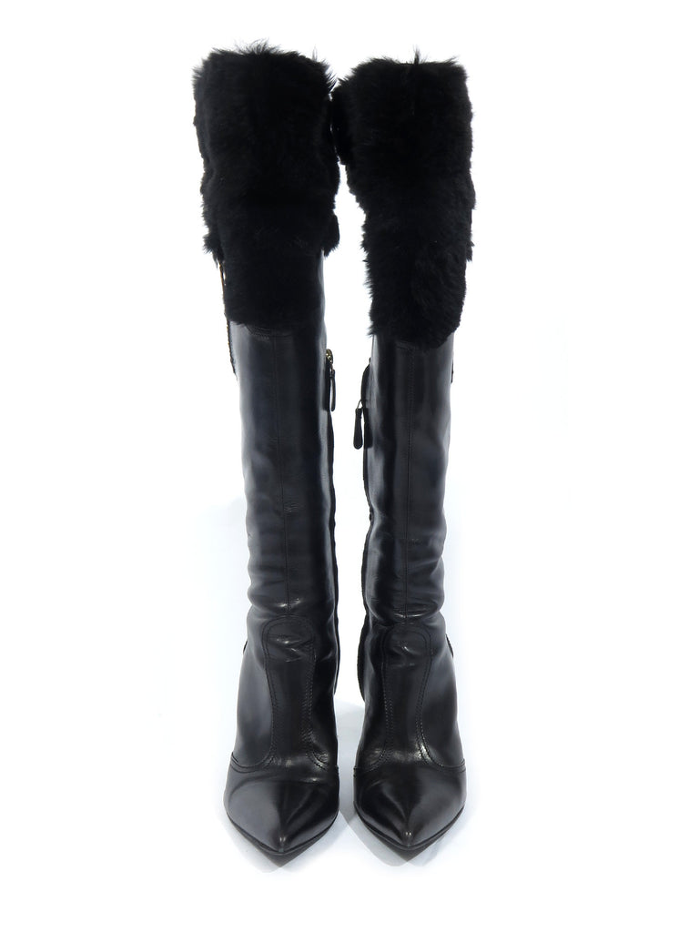 Versace Leather Boots
