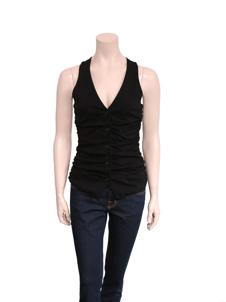Elizabeth and James Ruched Vest