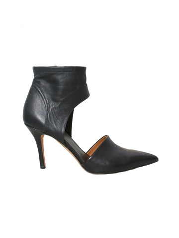 Vince Leather Cut-Out Pumps