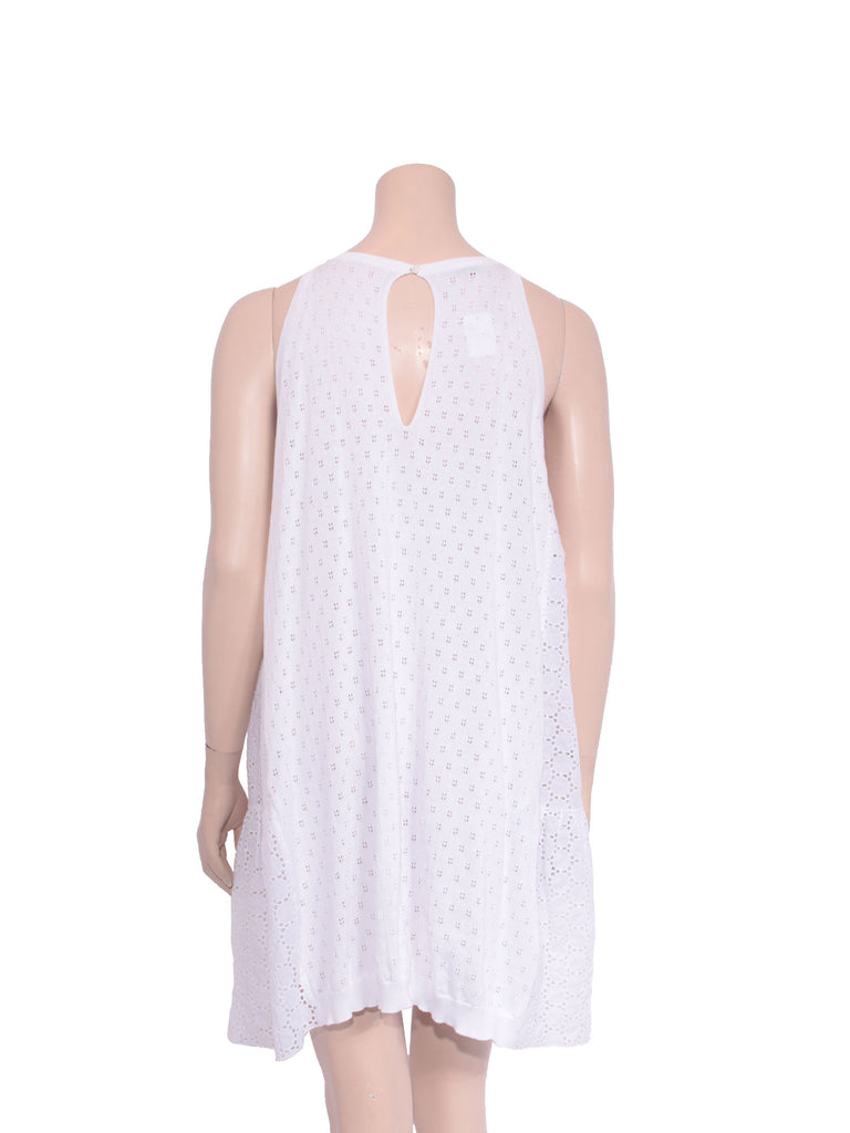Miu Miu Eyelet Crochet Cotton Dress