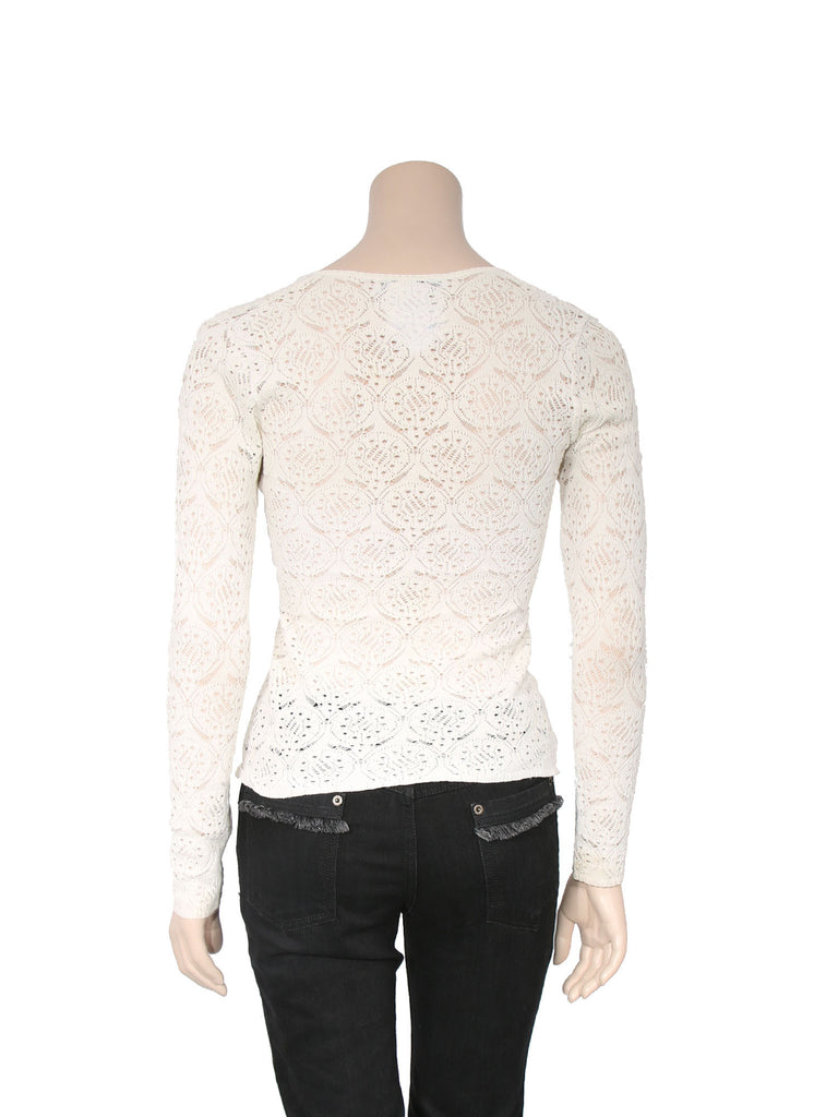 Christian Dior Lace Knit Sweater