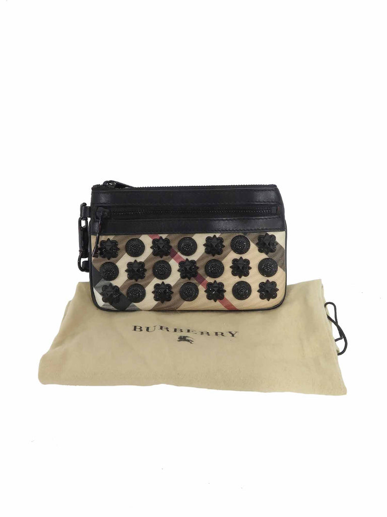 Burberry House Check Studded Wristlet