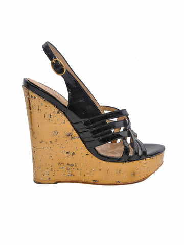 Yves Saint Laurent Idole Platform Wedge Sandals