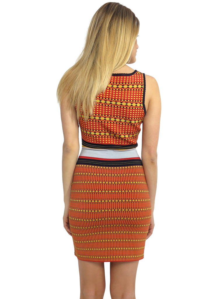 Z Spoke Zac Posen Printed Body Con Dress