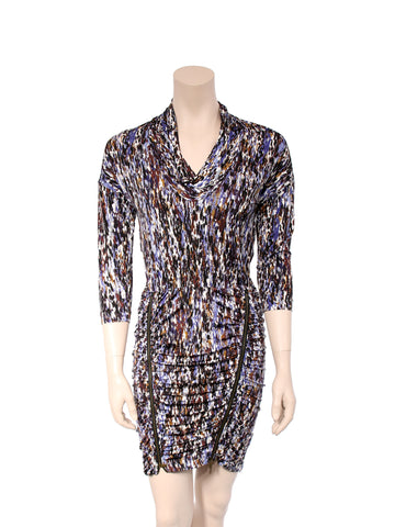 BCBG MaxAzria Printed Jersey Zip Dress