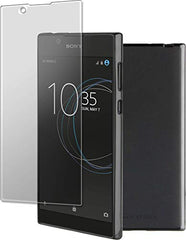 RoxFit Xperia L1 - Ultra Slim Soft Shell (Black) and Tempered Glass Twin Pack