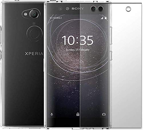 RoxFit Xperia L2 - Soft Shell and Tempered Glass Twin Pack (Clear). Made for Xperia Approved.
