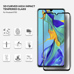 Roxfit Huawei P30 - 3D Curved Tempered Glass