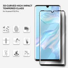 Roxfit Huawei P30 Pro - 3D Curved Tempered Glass