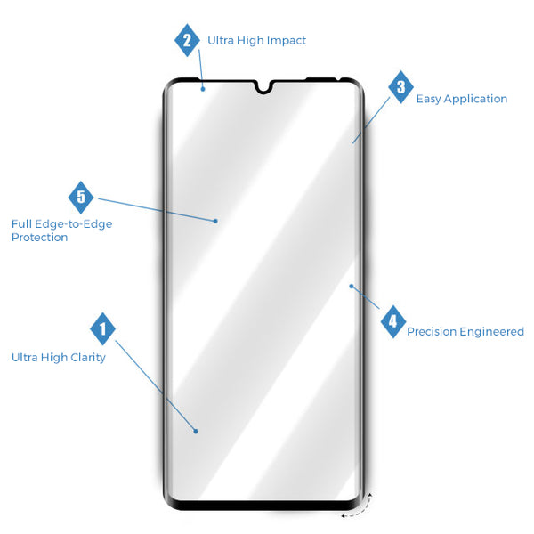 Curved Tempered Glass - Roxfit Huawei P30 Pro - 3D Curved Tempered Glass