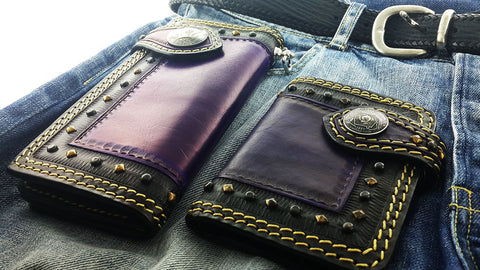 biker wallet and chain