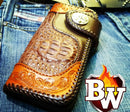 """Cowboy"" 8"" Custom Handmade Men's Biker Chain Wallet"