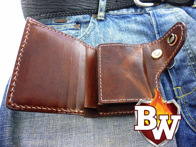 Al Capone 5-inch Custom Handmade Biker Wallet. | Custom Handmade Men's Leather Wallets at Biker-Wallets.com