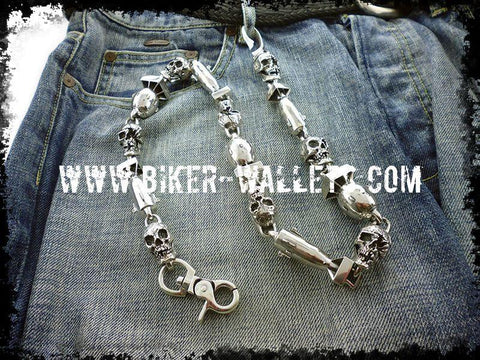 """Armageddon"" Custom .925 Silver Men's Biker Wallet Chain"