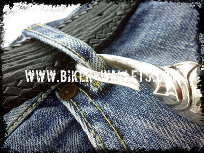 Armageddon Custom .925 Silver Men's Biker Wallet Chain | Custom Handmade Men's Leather Wallets at Biker-Wallets.com