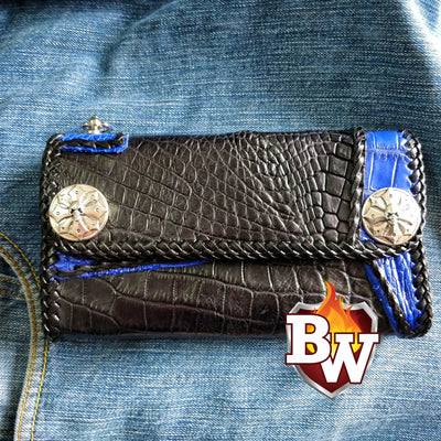 Avatar  8-inch  Men's Biker Chain Wallet | Custom Handmade Men's Leather Wallets at Biker-Wallets.com