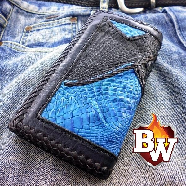"""Avatar""  7"" Custom Handmade Men's Biker Chain Wallet"