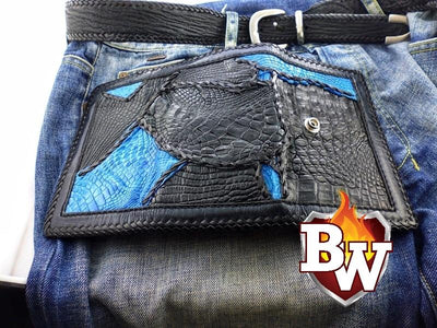 Avatar  7-inch  Men's Biker Chain Wallet | Custom Handmade Men's Leather Wallets at Biker-Wallets.com