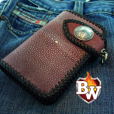 Bandit 6-inch  Leather Men's Biker Wallets | Custom Handmade Men's Leather Wallets at Biker-Wallets.com