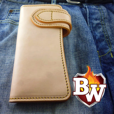 Bankster 8-inch  Leather Men's Biker Wallet | Custom Handmade Men's Leather Wallets at Biker-Wallets.com
