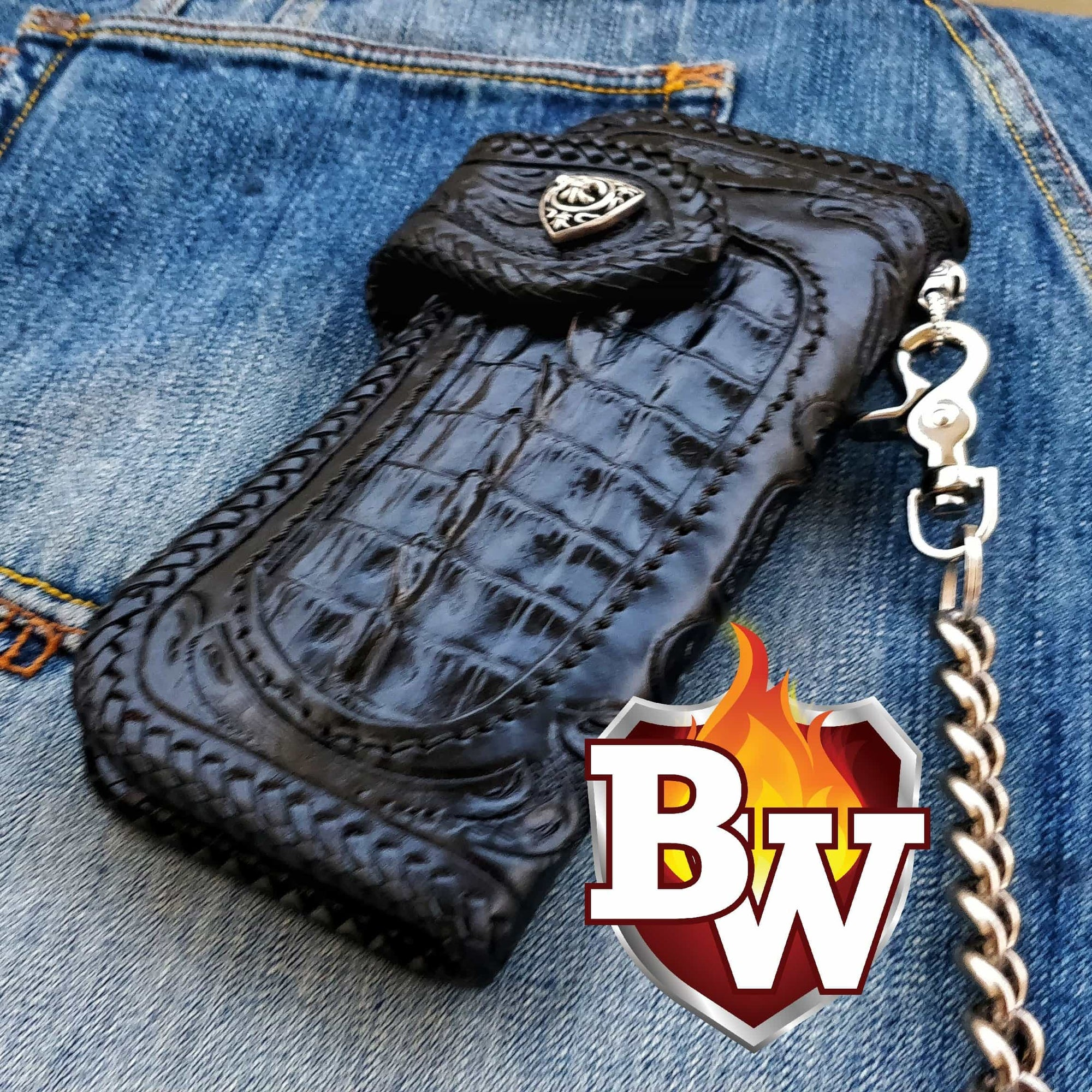 """Beast Master"" 8"" Custom Handmade Men's Biker Chain Wallet"