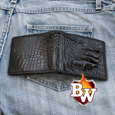 """Beast Wars"" 5"" Crocodile Skin Biker Wallet"