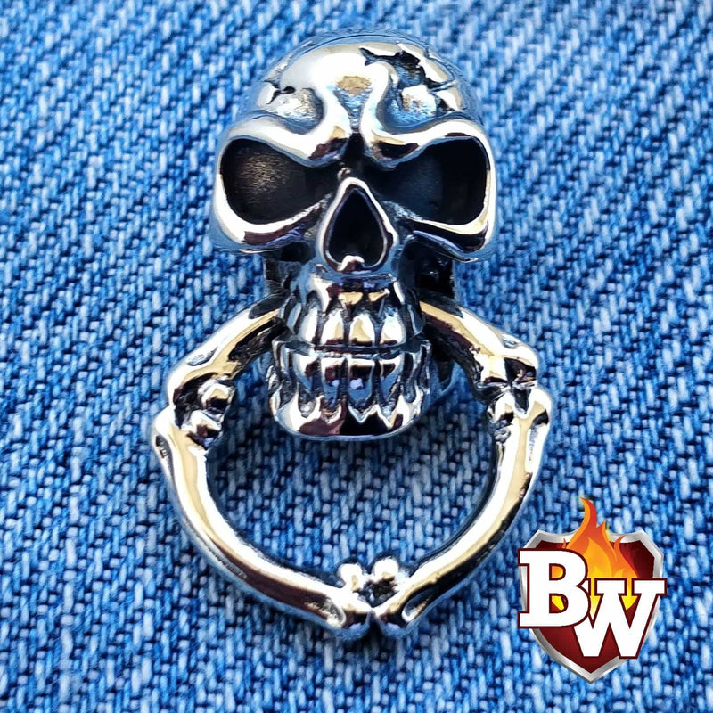Big Skull .925 Silver Biker Wallet Chain secure
