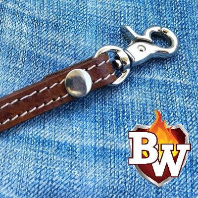 Dark Brown Straps Leather Biker Wallet Strap Lanyards | Custom Handmade Men's Leather Wallets at Biker-Wallets.com