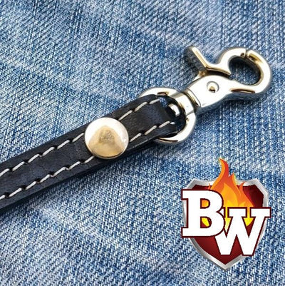 Straps Leather Biker Wallet Strap Lanyards | Custom Handmade Men's Leather Wallets at Biker-Wallets.com