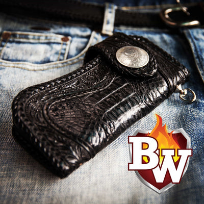 Reaper 7-inch  Men's Biker Chain Wallet | Custom Handmade Men's Leather Wallets at Biker-Wallets.com